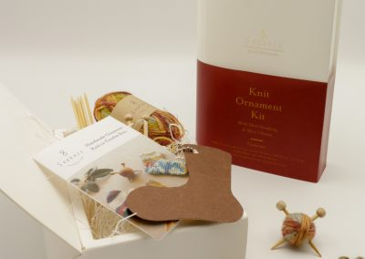 Knit Ornament Kit with Mini Stocking and Mini CharmID 58559