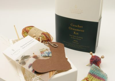 Crochet Ornament Kitwith Mini Stocking and Mini CharmID 58560