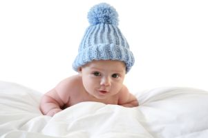 Knit caps for babies